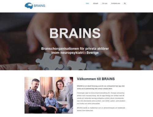 Utredningskompaniet skapar branschorganisationen BRAINS, Oxit skapar hemsidan.